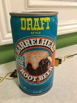 Barrelhead Sugar Free Root Beer Can Vintage Pull Tab Maywood ILL