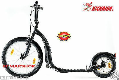 New Nieuw Original Kickbike Freeride G4 Black Scooter Step