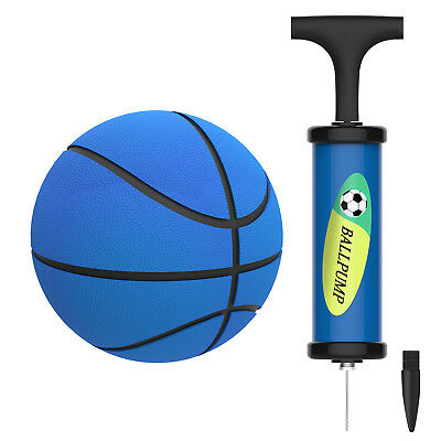 5'' Kids Mini Inflatable Soft Bouncy Basketball Hoop Toy Indoor Outdoor Use+Pump