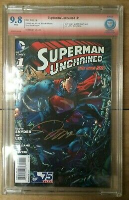 Superman Unchained #1 CBCS 9.8 Signed by Jim Lee