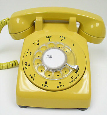 Yellow Western Electric 500 Desk Telephone - Full Restoration