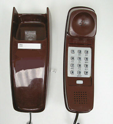 Brown Western Electric Trimline TouchTone Wall Telephone - Full Restoration