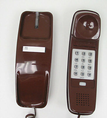 Brown Western Electric Trimline TouchTone Desk Telephone - Full Restoration