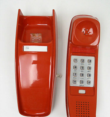 Rust Western Electric Trimline TouchTone Wall Telephone - Full Restoration