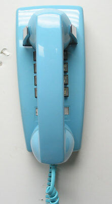 Aqua Blue Western Electric 2554 TouchTone Wall Telephone - Full Restoration