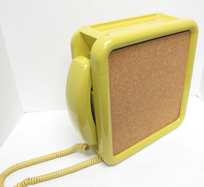 Yellow Western Electric Noteworthy TouchTone Wall Telephone - Full Restoration
