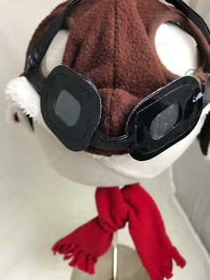 Aviator hat, goggles & red scarf-dog costume,Size Sm/Med. Halloween/anytime fun!