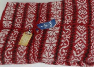 27b9d729cca Kidka Iceland 100% Icelandic Wool Throw Brown and Blue – New..FAST SHIPPING