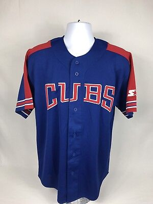 8462170b3f4 VTG 90 s MLB Starter Chicago Cubs Sammy Sosa  21 Baseball Jersey Size Medium