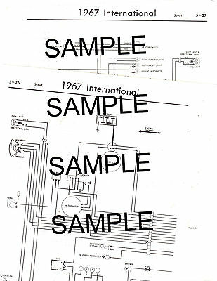 1965 international truck 65 all models except scout & metro wiring chart  diagram