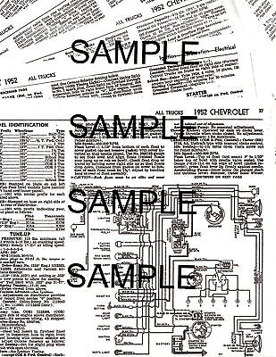 1952 Ford Trucks 52 Tuneup Electrical Mechanical Guide Wiring Diagram Chart