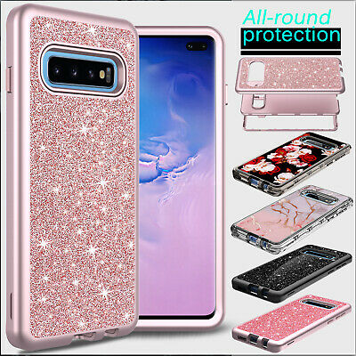 For Samsung Galaxy S10 Plus/S10e Phone Case Shockproof Bling Glitter Armor Cover