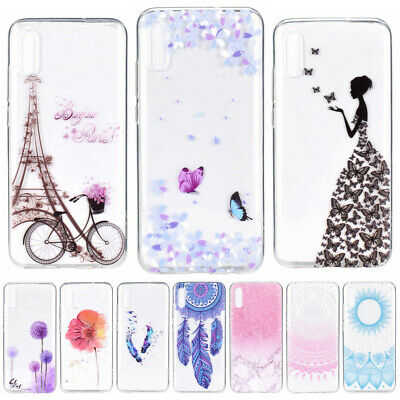 For Samsung Galaxy A70 A50 A30 A20E S10+ Painting Clear Soft TPU Slim Case Cover