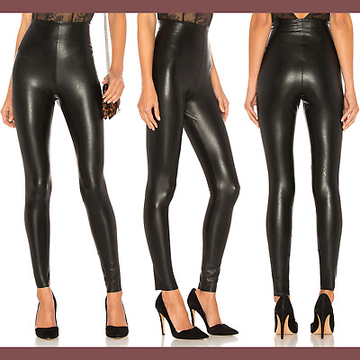 bb51c40ec2934 NEW $98 Commando Perfect Control Faux Leather Leggings Black [SZ Large ]  #H308