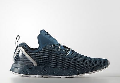cheap for discount 58b46 d6980 Adidas Originals Zx Flux Adv Asimmetrico Scarpe Uomo Sportive Aq6657 - Blu