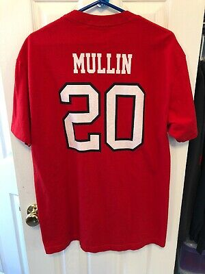 7693d89a378 Chris Mullin St. John's University NCAA Basketball Shirt Large Redmen Red  Storm