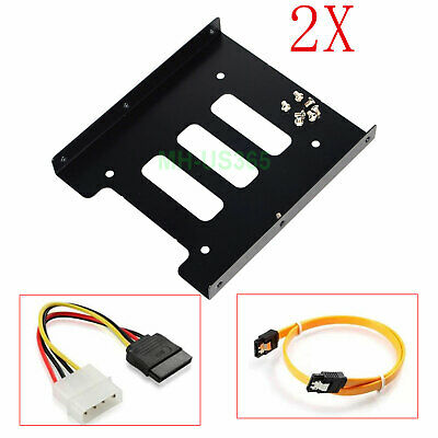 """2X New 2.5/"""" SSD to 3.5/"""" Bay Hard Drive HDD Mounting Dock Tray Bracket Adapter TO"""