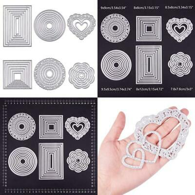 Benecreat 6 Sets Cutting Dies Cut Metal Scrapbooking Stencils Nesting Die For Di