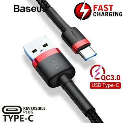 BASEUS QC3.0 Type C Fast Charging Data Sync Charger Cable Huawei P30 Pro Lite