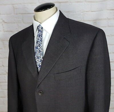 Canali Proposta Brown Sport Coat Jacket Blazer 100% Wool Men's Size 42R Italy