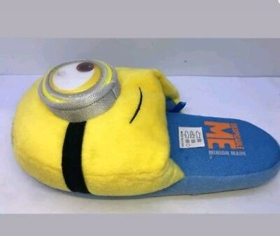 Character Unisex Minion Made Yellow Slippers Size S