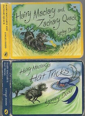 HAIRY MACLARY BOARD BOOKS x 2 MACLARY'S HAT TRICKS AND ZACHARY QUACK Lynley Dodd