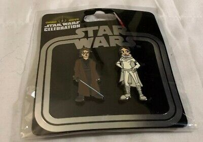 Star Wars Celebration 2019 Anakin & Padme Trading Pin Set Of 2 Authentic New