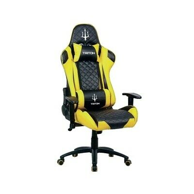 Atlantis Land Triton X3 Poltrona Gaming Nero Giallo
