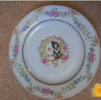 Chinese Export Famille Rose Armorial Porcelain Dish