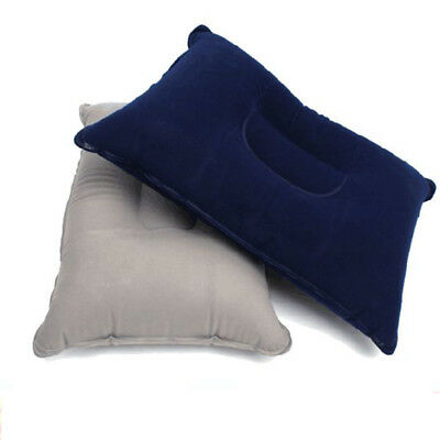 2pcs Inflatable Pillow Travel Air Cushion Camp Beach Car Plane Head Rest Sleep