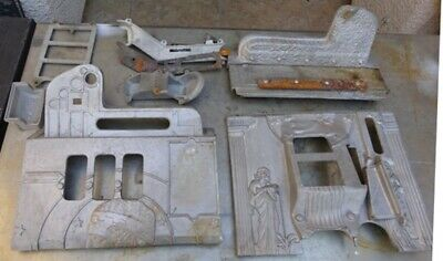 Mills Roman Head slot machine front design castings & other parts and  trim