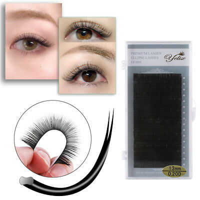 Individual C/D Curl False Eyelashes Ellipse Split-tip Mink Soft Flat Lashes