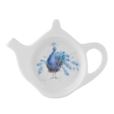 Wrendale tea bag tidy peacock