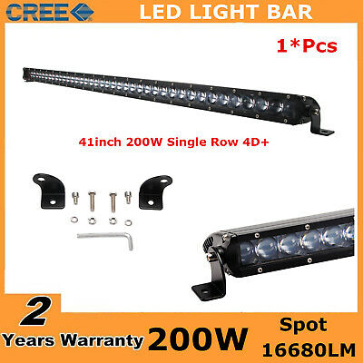 41inch 200W CREE LED Single Row Light Bar Slim Spot Offroad SUV 4X4 Ford 4D+ 42/