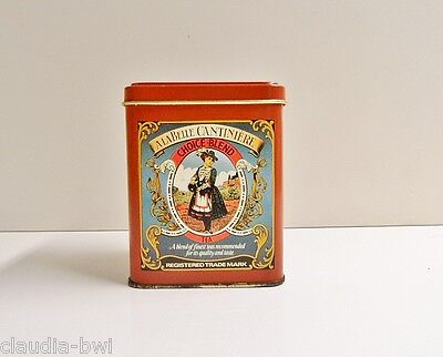 """Boite A The Ancienne Metal Lithographiee """"A La Belle Cantiniere"""" Vintage"""