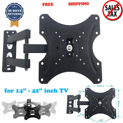Articulating Single TV Bracket Arm Tilt Rotate Wall Mount VESA Bracket US STOCK