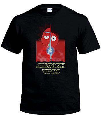 The Last Jedi Squanch Wars T-Shirt Rick & Morty Inspired Comedy T-Shirt