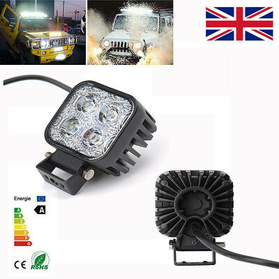2 X Cree 12W Square LED Spotlight Beam Work Light Offroad Car Truck SUV 12V 24V