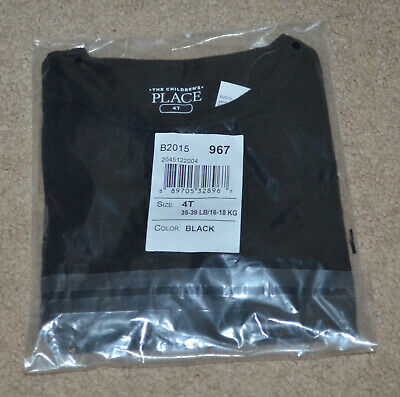 The Children's Place Toddler Boys Black Long Sleeve T-Shirt Size: 4T NWT