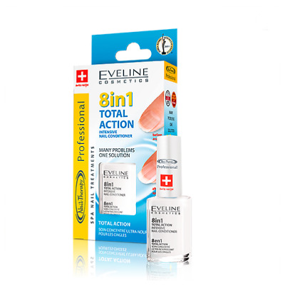 EVELINE 8in1 TOTAL ACTION INTENSIVE NAIL CONDITIONER STRENGTHENER 12ml