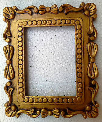 Wooden Photo Frame Hand Made Carved Picture Old Frame Collectible Home Decor Art