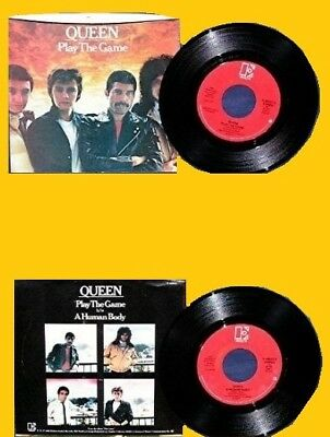 QUEEN 7' 45 Giri PLAY THE GAME / A HUMAN BODY 1980 MADE IN USA