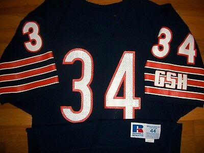 cheap for discount b2aba f41da 1985 CHICAGO BEARS Walter Payton Authentic Game Jersey Sz 44 Russell USA Vtg