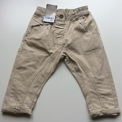 """Baby Girls Tan  """"Next"""" Smart Turn-Up Trouser, Age 9-12 Mths, Nwt"""