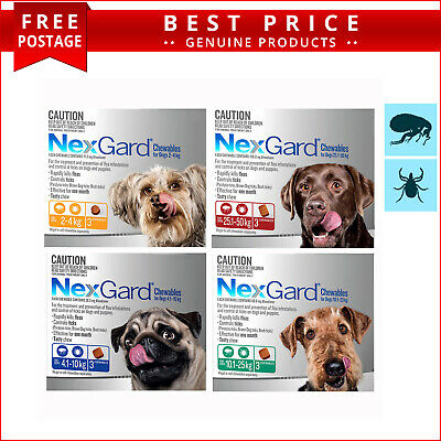 NexGard for Dogs All Sizes Monthly Flea and Tick Prevention 3 Doses by Merial