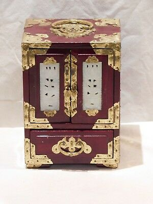 Vintage Rosewood/Brass Oriental Jewelry Box / Absolutely Gorgeous