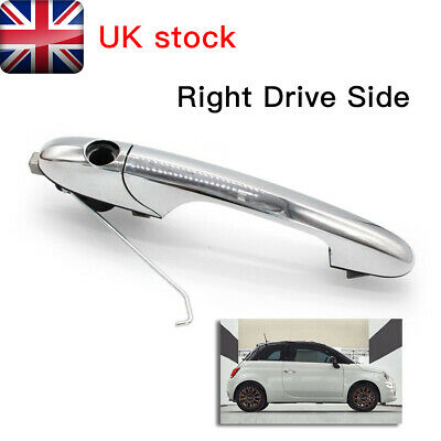 For Genuine Fiat 500 Offside Right Driver Side Chrome Outer Door Handle UK