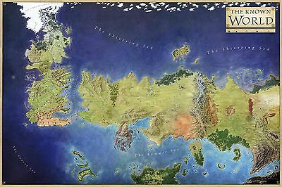 Game of Thrones - 081 - Giant Westeros Map / The Known World - Art Print Poster