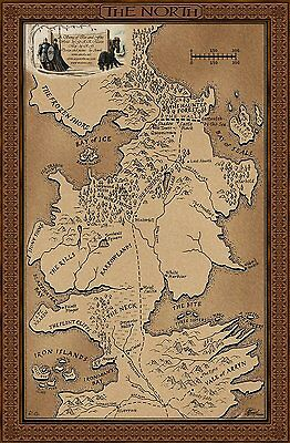 Game Of Thrones - Map Of The North / Westeros '001'