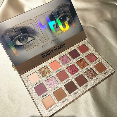 Beauty Glazed 18 Color Nude Shining Eyeshadow Palette Makeup Glitter Pigment Smo